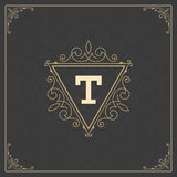 Logo Design Template Vector Decoration real Imagen de archivo libre de regalías