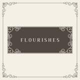 Logo Design Template Vector Decoration real, líneas de marco elegantes caligráficas del ornamento de los Flourishes Bueno para el Imagen de archivo libre de regalías