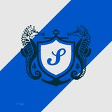 Logo design vector template. Isolated Sea Horse vector illustration