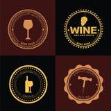 Logo Design for wine shops, cafes, restaurants Stock Image