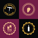 Logo Design for wine shops, cafes, restaurants Royalty Free Stock Photography