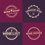 Logo Design for wine shops, cafes, restaurants Stock Photos