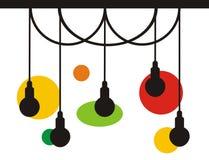 Logo-Designinspiration der Lampe helle mit ENV und JPEG lizenzfreies stockbild