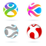 Logo designs. Vector illustration of Logo designs in sphere Stock Photography