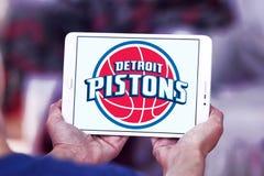 Detroit Pistons american basketball team logo. Logo of Detroit Pistons team on samsung tablet. The Detroit Pistons are an American professional basketball team Stock Images