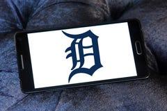Detroit Tigers baseball team logo. Logo of Detroit Tigers team on samsung mobile. The Detroit Tigers are an American professional baseball team Royalty Free Stock Photo