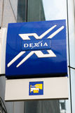 Logo of Dexia bank Stock Images