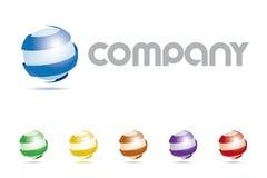 Logo di Abstract Sphere Symbol Company illustrazione di stock