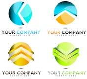 Logo di affari della società Fotografie Stock
