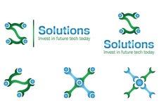 Logo di affari della soluzione Fotografie Stock Libere da Diritti