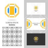 Logo di affari per la società Elemento del poligono di vettore per pubblicare Immagine Stock Libera da Diritti