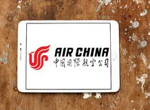 Logo di Air China fotografia stock libera da diritti