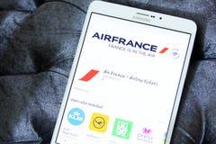 Logo di Air France app immagine stock libera da diritti