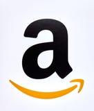 Logo di Amazon su un fondo bianco Immagine Stock Libera da Diritti