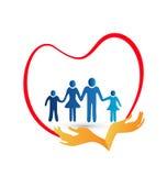 Logo di amore della famiglia Fotografia Stock Libera da Diritti
