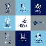 Logo di architettura di concetto dello spazio Fotografia Stock