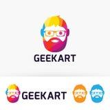 Logo di arte del geek Fotografie Stock Libere da Diritti