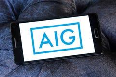 Logo di assicurazione di Aig Fotografie Stock Libere da Diritti