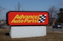 Logo di avanzamento del deposito dei ricambi auto Fotografia Stock