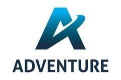 Logo di avventura Fotografia Stock