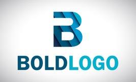 Logo di B - blu Fotografia Stock