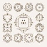 Logo di bage del monogramma Fotografia Stock