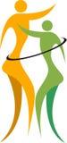 Logo di ballo delle coppie Fotografia Stock
