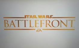 Logo di battlefront delle guerre stellari Fotografie Stock