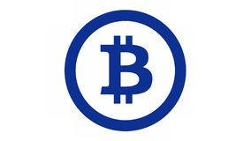 Logo di Bitcoin Immagine Stock