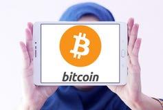 Logo di Bitcoin Fotografia Stock