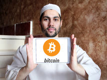 Logo di Bitcoin Fotografie Stock Libere da Diritti