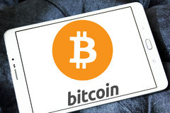 Logo di Bitcoin Immagini Stock