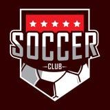 Logo di calcio, logo dell'America, logo classico illustrazione di stock