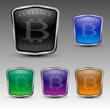 Logo di cambio di Bitcoin illustrazione di stock
