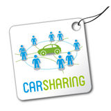 Logo di car sharing Fotografia Stock Libera da Diritti
