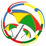 LOGO di carnevale dell'ombrello illustrazione vettoriale