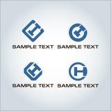 Logo di CH della lettera Fotografie Stock