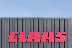 Logo di Claas su una parete Fotografia Stock