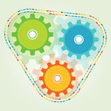 Logo di colore leggero dell'ingranaggio 3 fotografie stock libere da diritti