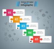 Logo di colore di puzzle Commercio Infographics Vettore ENV 10 royalty illustrazione gratis