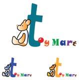 Logo di concetto del deposito di giocattoli dei bambini illustrazione di stock