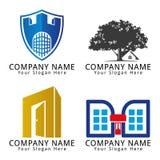 Logo di concetto della costruzione Immagine Stock
