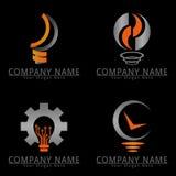 Logo di concetto di idea della lampada Fotografia Stock