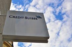 Logo di Credit Suisse immagini stock libere da diritti