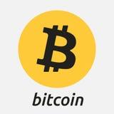 Logo di criptocurrency del blockchain di Bitcoin Fotografia Stock Libera da Diritti