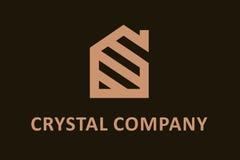 Logo di cristallo della società Immagini Stock Libere da Diritti