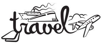 Logo di crociera e di viaggio Immagini Stock