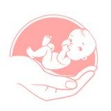 Logo di cura del bambino Fotografie Stock