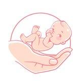 Logo di cura del bambino Fotografia Stock Libera da Diritti