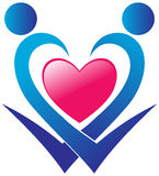 Logo di cura del cuore Fotografie Stock